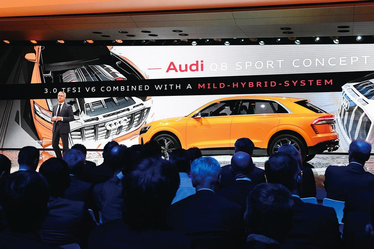 udi Q8 sport concept亮相日內瓦國際車展。(Getty Images)