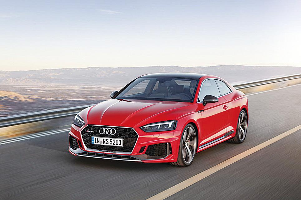 全新RS設計語言以及強悍動力的完美融合的奧迪RS 5 Coupe。(Audi)
