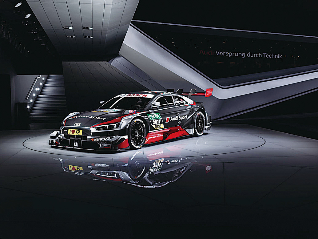 迪RS 5 DTM。(Audi)