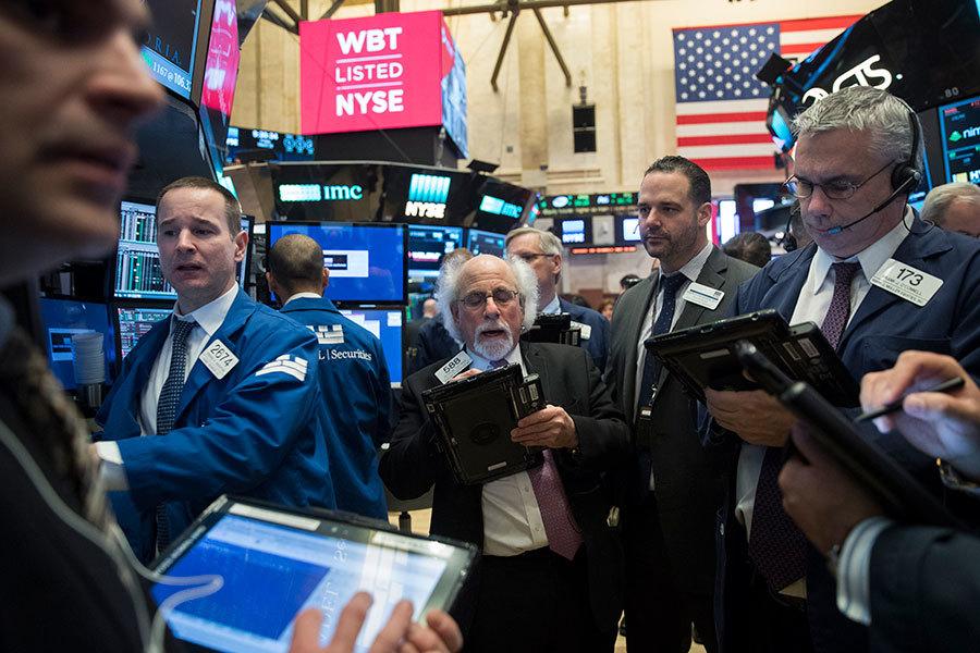 美國紐約股市交易所。(Drew Angerer/Getty Images)