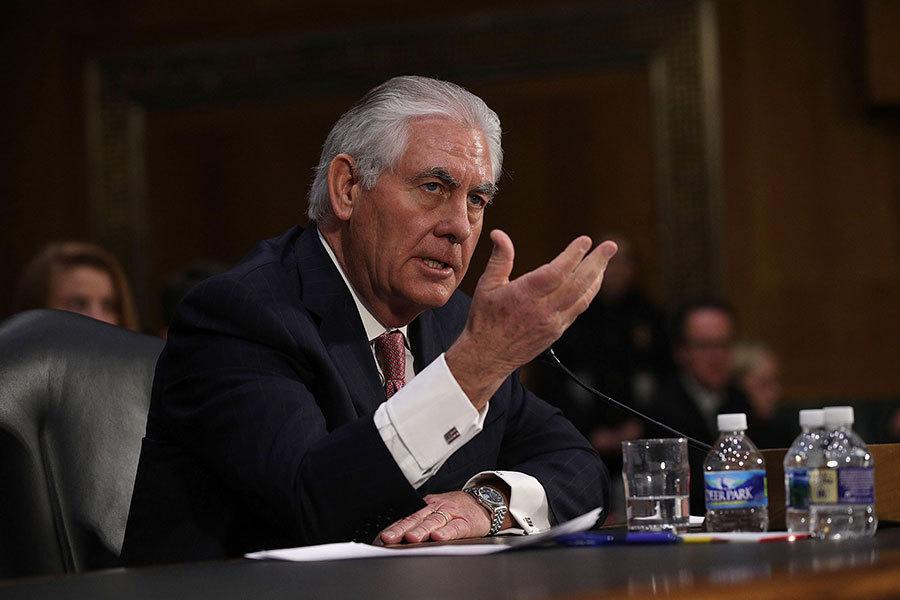 美國國務卿蒂勒森(Rex Wayne Tillerson)3月15日將抵達日本,緊急展開為期5天的亞洲三國巡迴訪問。(Alex Wong/Getty Images)