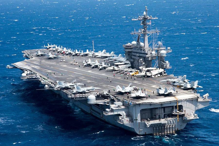 美國航空母艦卡爾文森號(CVN 70)2017年3月9日抵達南韓進行美韓軍事演習。(卡爾文森號Facebook)