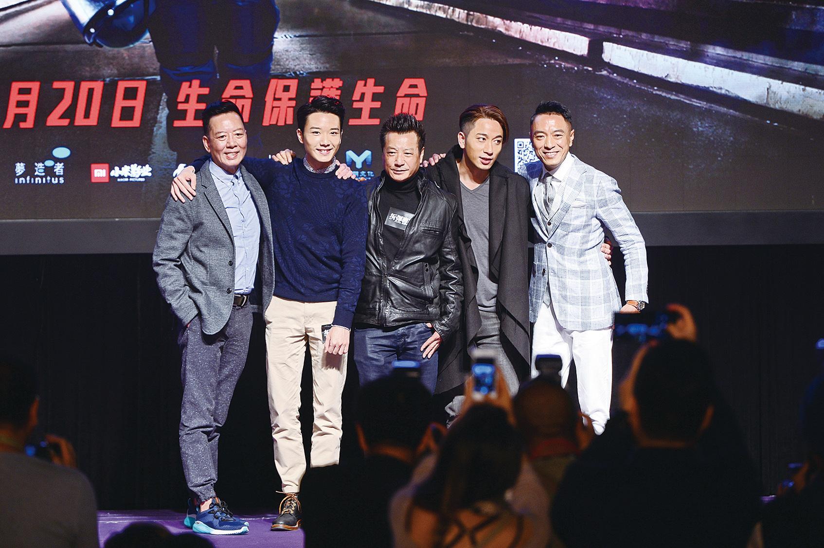 電影《拆彈專家》於香港國際影視展舉行發佈會。(宋碧龍/大紀元)