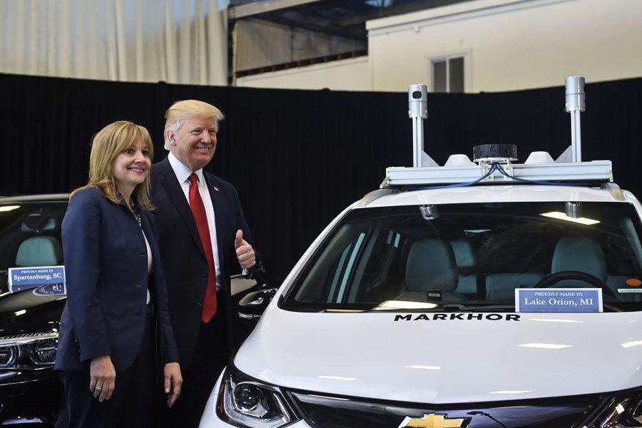 特朗普訪問底特律 通用宣佈將創造九百個職位