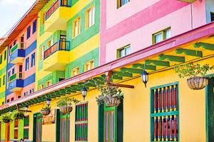 亮麗如調色盤 哥倫比亞小鎮