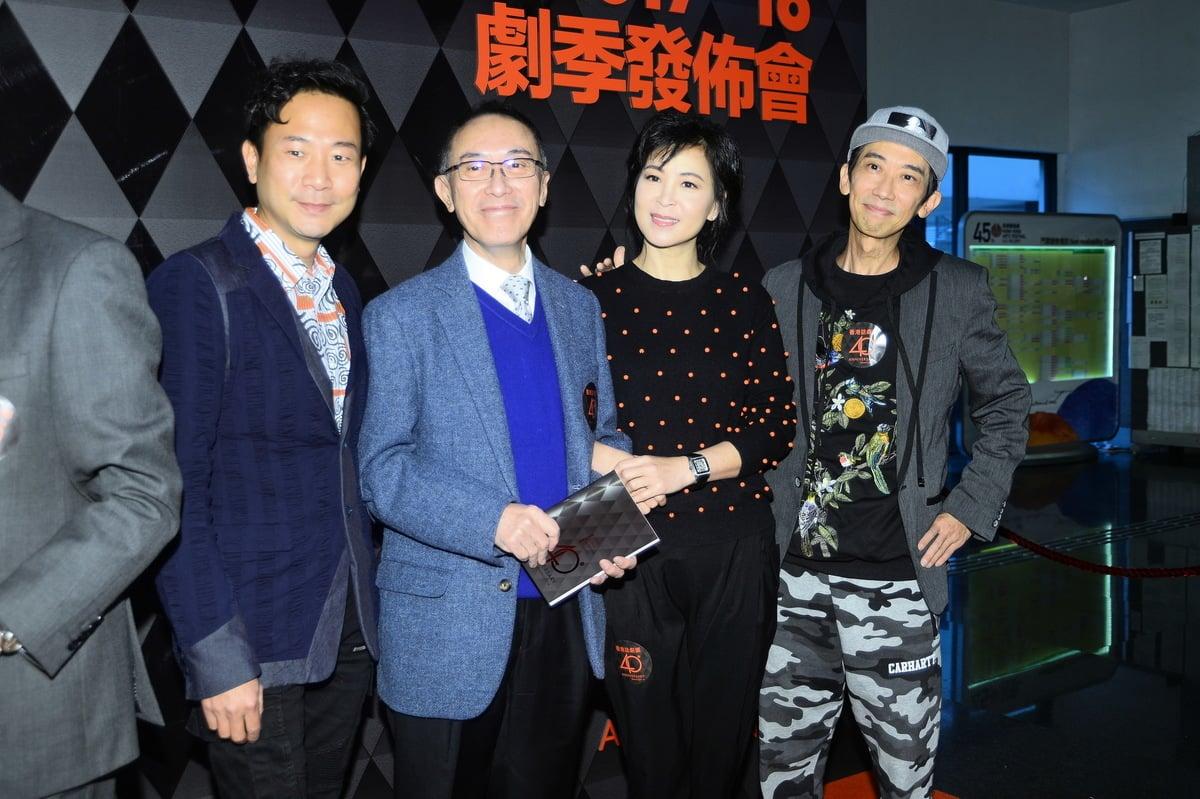 陳國邦(左到右) 、毛俊輝、蘇玉華、張達明。(宋碧龍/大紀元