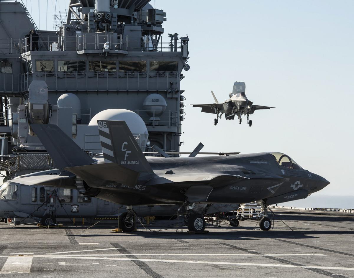 F-35B型隱形戰鬥機,可垂直起降。(Flickr)