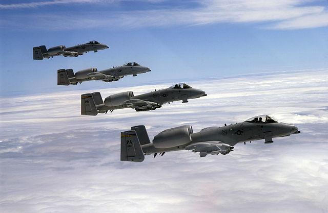A-10雷霆(Thunderbolt)攻擊機隊。(維基百科)