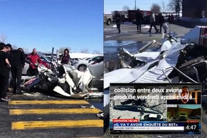加國飛機空中相撞慘案 中國飛行員一死一重傷