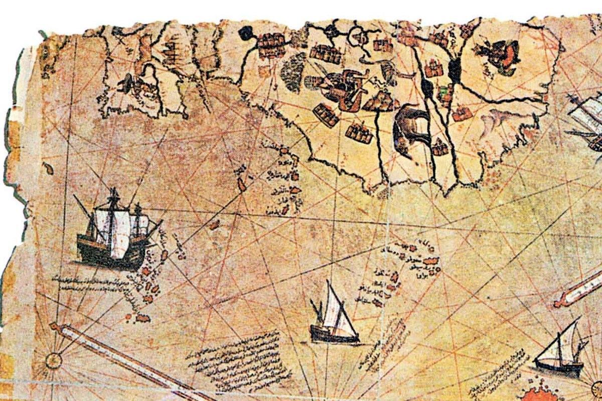 皮瑞・雷斯地圖局部。(維基百科)