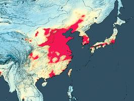 中國空氣污染多嚴重 NASA衛星圖讓你看明白