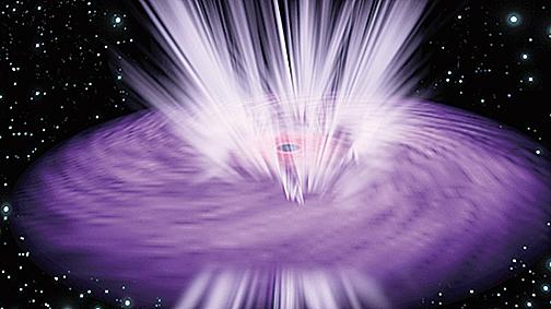 黑洞發出極速強風的模式圖。(ESA)