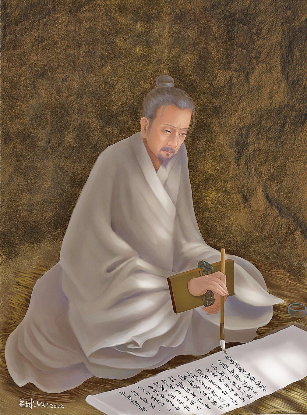 南宋將領文天祥,在元人的濕寒監牢裡,寫下歌以詠志的五言長詩《正氣歌》。(羊妹/大紀元製圖)