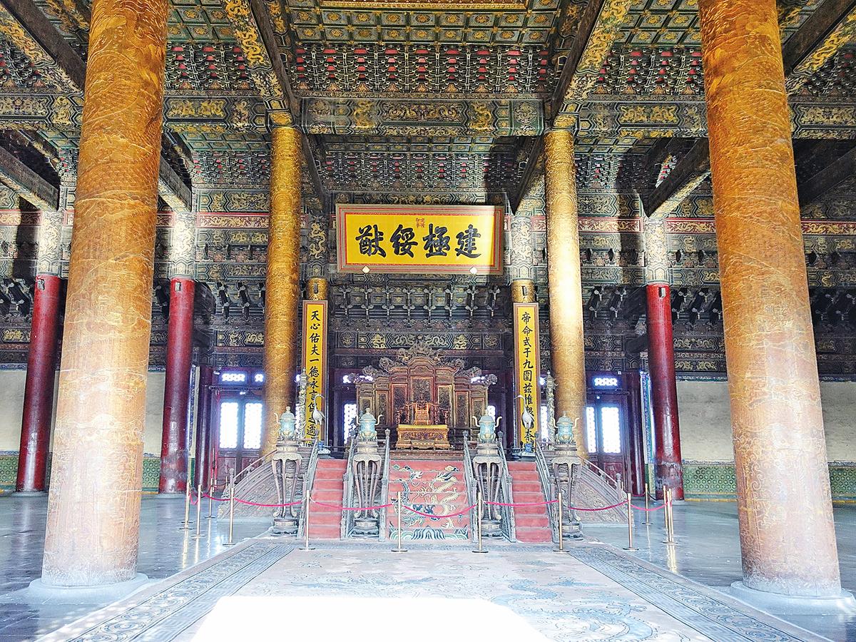 北京,故宮博物院太和殿内景。(大紀元資料室)