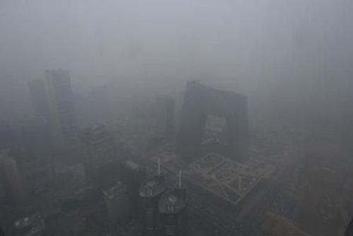 北京市空氣質量日前再次達到重度污染級別。(網絡圖片)
