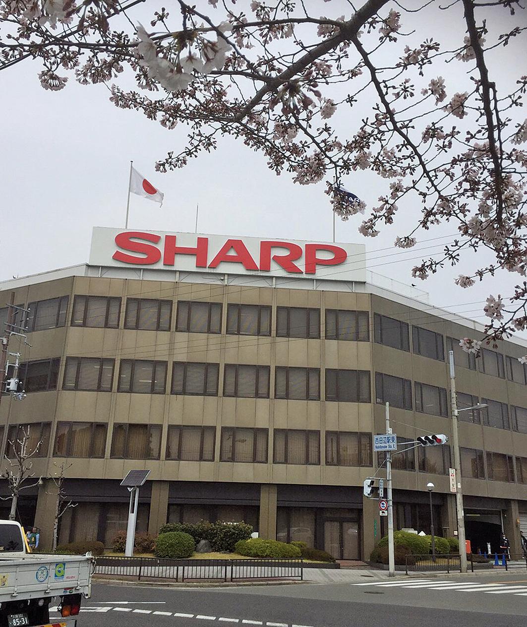 圖為夏普位於日本櫪木的工廠。(KAZUHIRO NOGI/AFP/Getty Images)