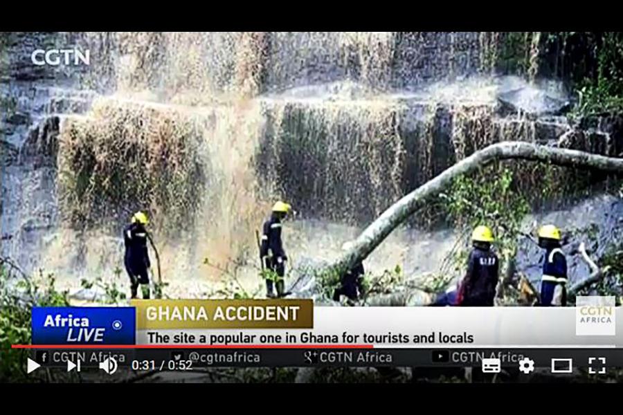 加納景點大樹倒塌 十八人瀑布下游泳被砸死