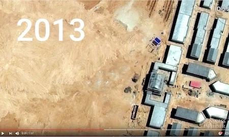 二連浩特市一個開發區2013年是一片黃土。(Youtube視像擷圖)