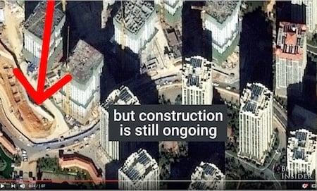 呈貢區一些近乎空置的摩天大樓。(Youtube視像擷圖)