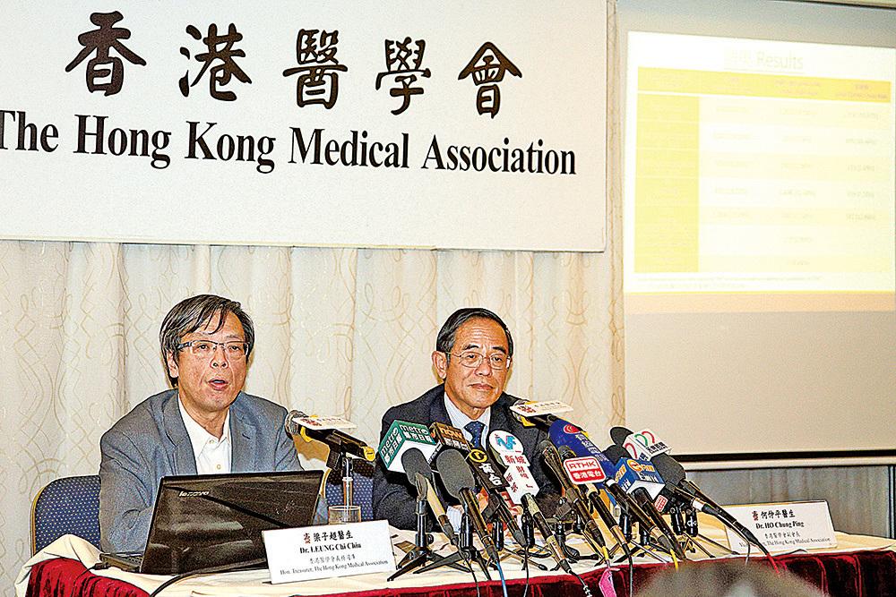 香港醫學會公佈調查,稱業界有55%受訪醫生及牙醫支持曾俊華。(李逸/大紀元)