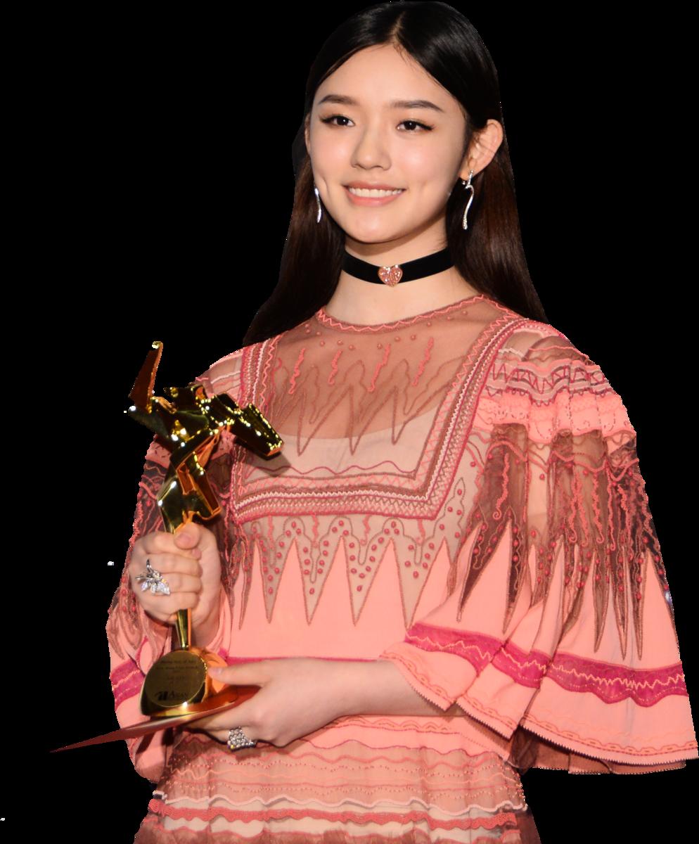 林允獲頒「亞洲飛躍演員大獎」。(宋碧龍/大紀元)