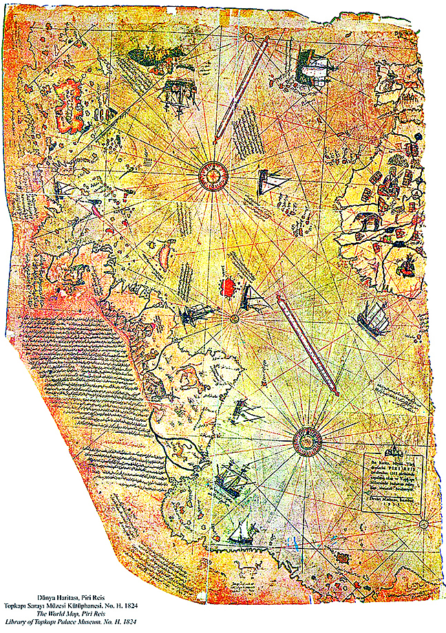 五百年前世界地圖 盡顯古文明之發達