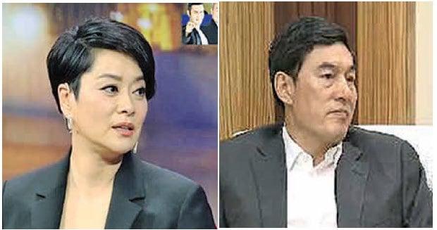 中國大陸知名歌星毛阿敏(左)和其丈夫、「中植系」掌門人解直錕(右)。兩人據稱是秘密交往一年後,於2003年結婚。(影片截圖)