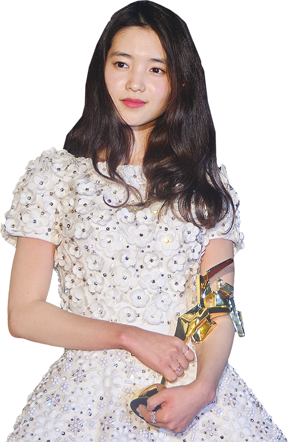 韓星金泰璃憑電影《下女誘罪》獲最佳女配角、最佳新演員獎。(宋碧龍/大紀元)