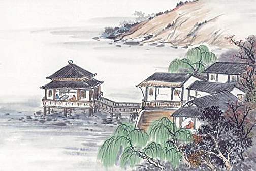 折柳贈別是唐朝盛行的風俗(大紀元資料圖片)