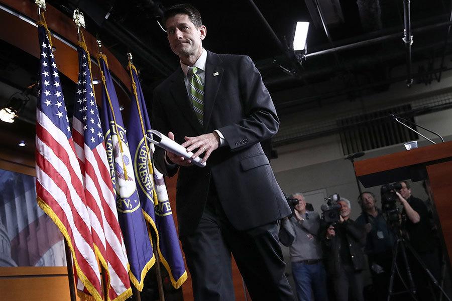 因票數不足,美國眾議院共和黨人在周五(3月24日)全院表決的最後關頭決定撤回廢除奧巴馬健保法案的美國健保法案(AHCA)。(Win McNamee/Getty Images)