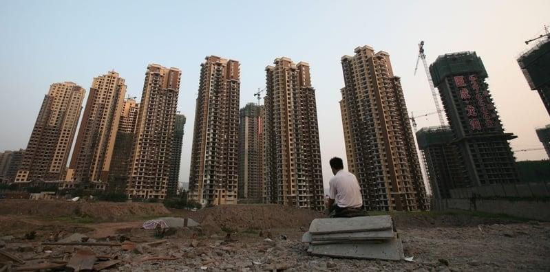 大陸房企面臨債務到期而融資大幅下降的困境。(Getty Images)