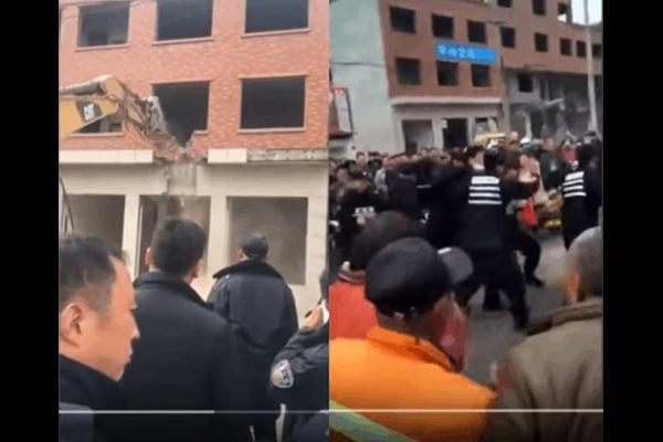3月24日城管與村民爆發衝突,警方發射催淚彈平息事件。(民眾提供)