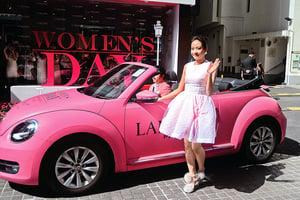 林嘉欣化身Pink Lady 微笑演繹美麗人生