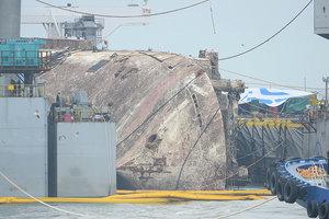南韓打撈世越號 發現疑似罹難者遺骨