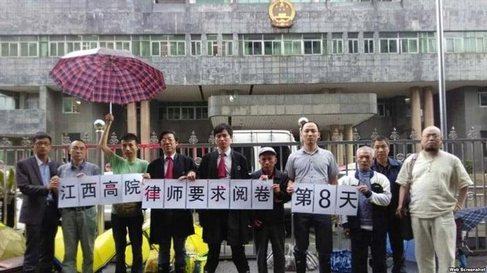 吴淦被抓前參與的維權活動。(網路圖片)