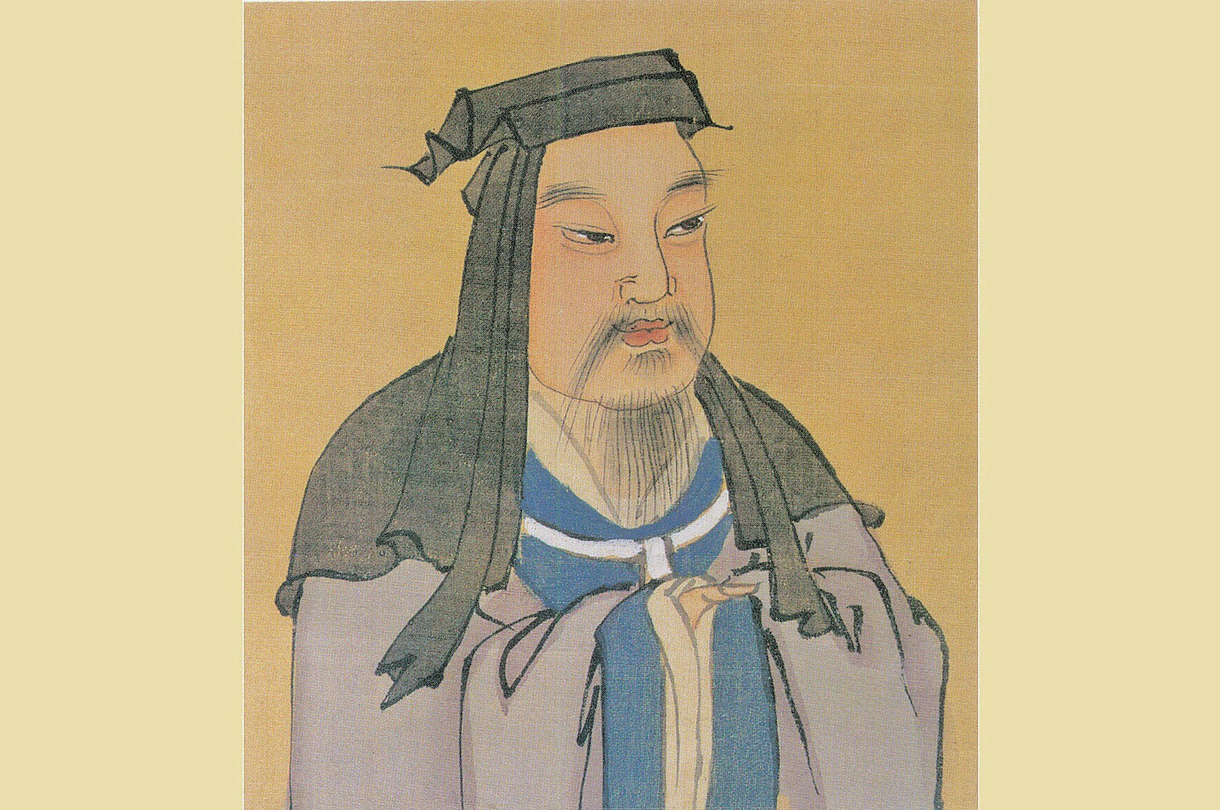 魏太祖曹操彩像,明人繪。(公有領域)