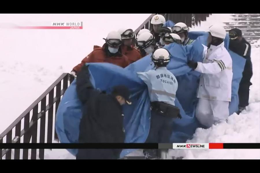 日本栃木滑雪場雪崩 八高中生死亡一失蹤