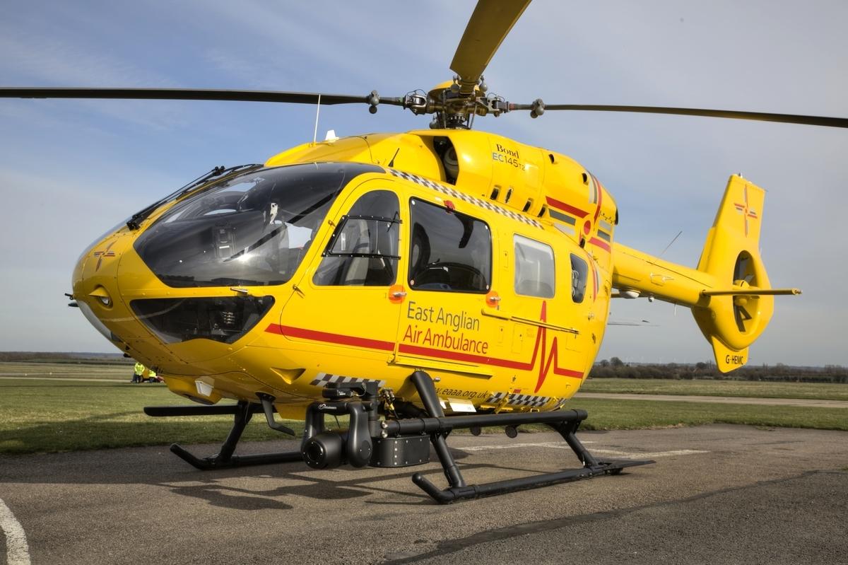 圖為East Anglian Air Ambulance的Eurocopter H145教護直升機。(Wikicommons)