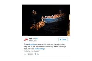 人道船在地中海救起千二名移民