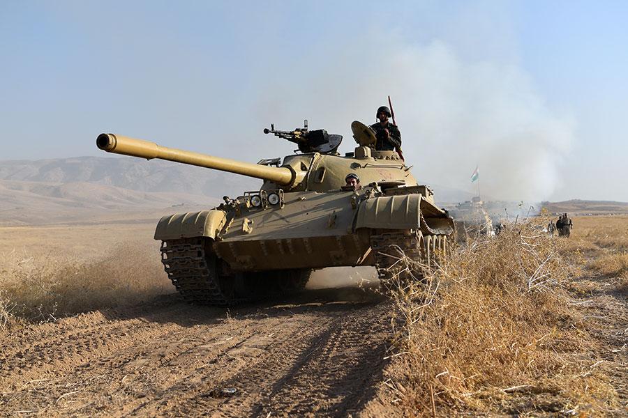 美國軍方正在向伊拉克派遣兩個連的士兵,幫助那裏的部隊從伊斯蘭恐怖組織IS手中奪回摩蘇爾。(Carl Court/Getty Images)