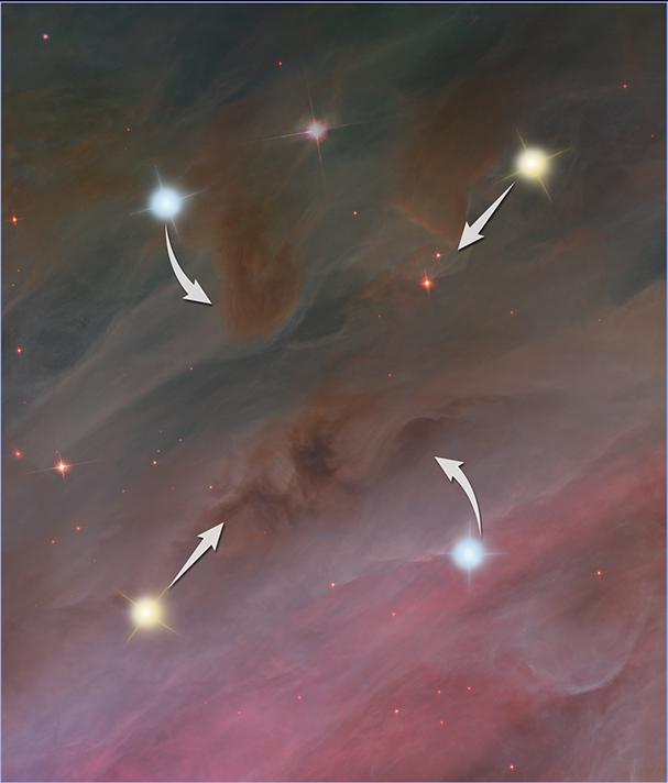 科學家推測,星戰前期恆星運動的趨勢:恆星相互靠近。(NASA, ESA, and Z. Levy (STScI))