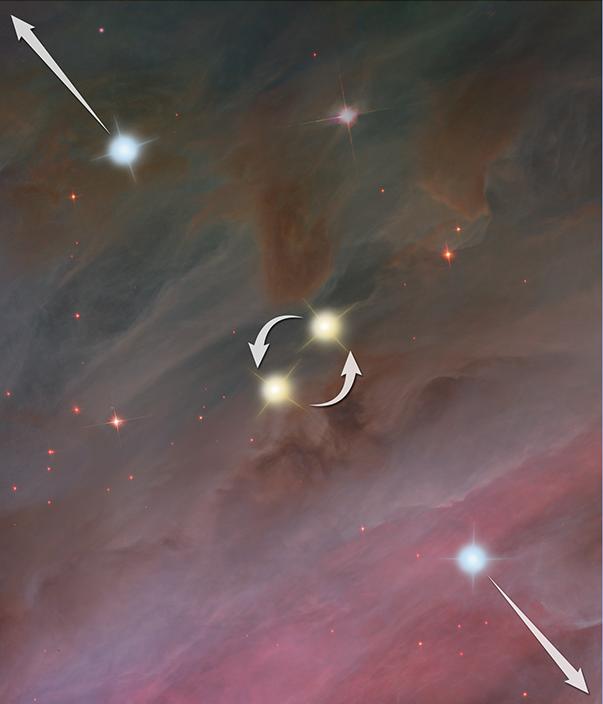 科學家推測,星戰結果:恆星相互遠離。(NASA, ESA, and Z. Levy (STScI))