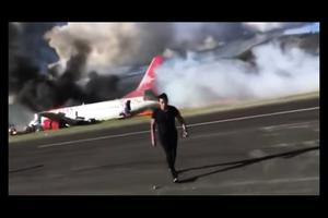 秘魯客機硬著陸時起火 141人被緊急疏散