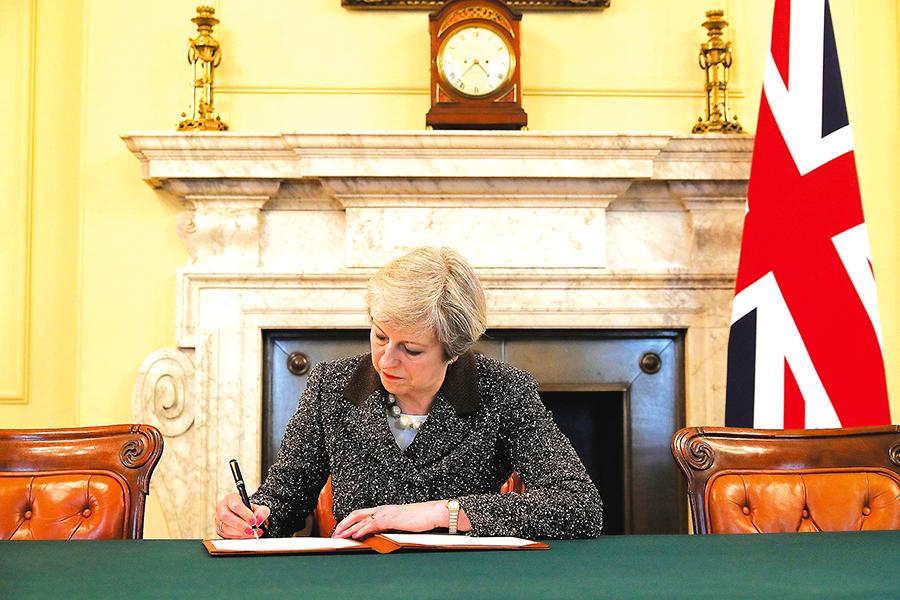 英國正式啟動脫歐程序