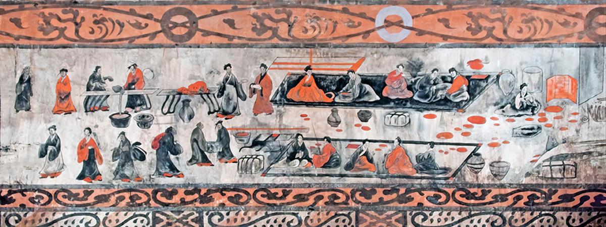 漢墓〈宴樂圖〉 (公有領域)