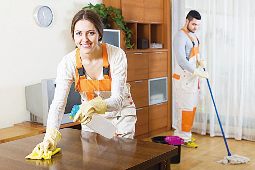 清理環境衛生時也可同時掃除負面能量。(Fotolia)