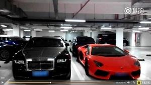 王健林之子車庫曝光 十多輛名車一字排開