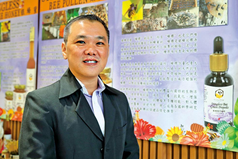 從蜂場起家,The Honey Heritage市場開發總監蕭際賢,希望將優質蜂蜜帶到國際市場讓更多人受惠,「跟著大紀元,不但能走到中國跟香港,又認識台灣,接觸韓國,甚至美國的商家。」他表示感受到意想不到的國際潛力。攝影/余剛