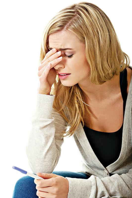 女人鬱悶心理 易患不孕症
