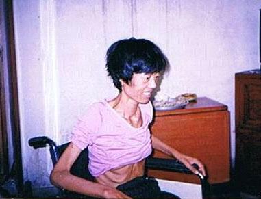 李文霞被迫害3年後的照片,2003年底拍攝。(明慧網)